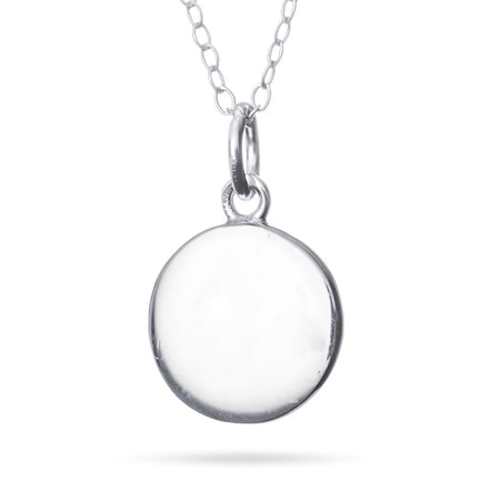 Petite Round Sterling Silver Engravable Tag