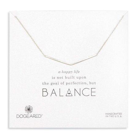 Dogeared Wide V Silver Necklace