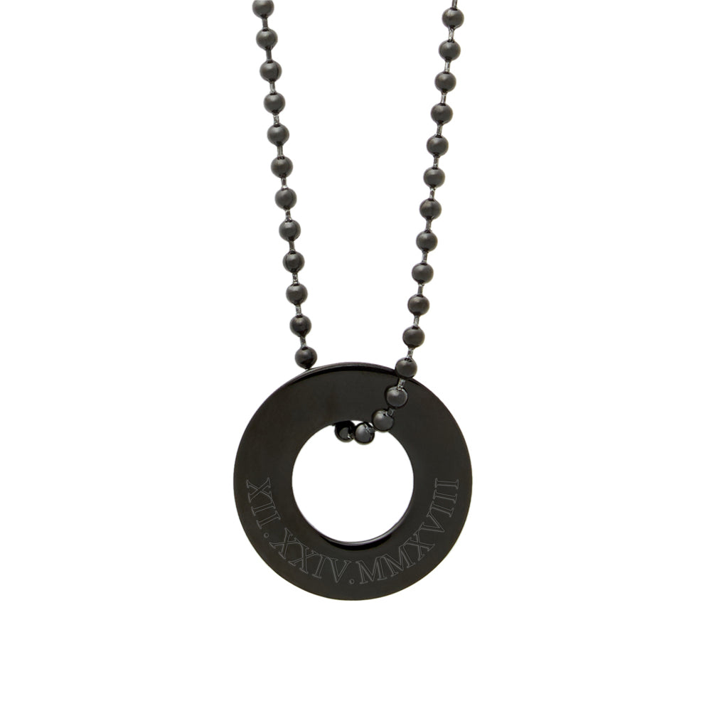 Eves Addiction Stainless Steel with CZs Compass Pendant Necklace 18, 20,24