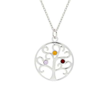 3 Birthstone Family Tree Pendant