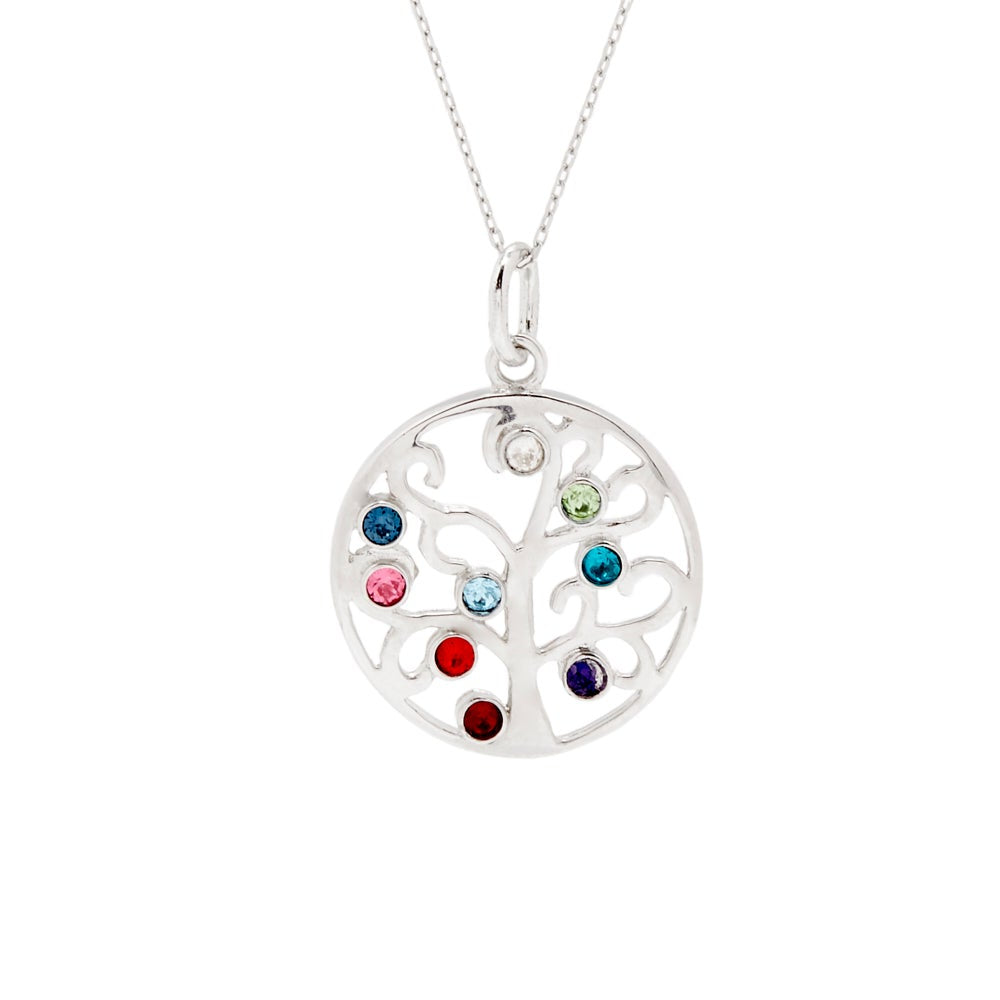 Perfect Gift for Mom and Grandma Birthstone Jewelry Personalized Tree of Life Necklace Gift Custom Family Tree Necklace