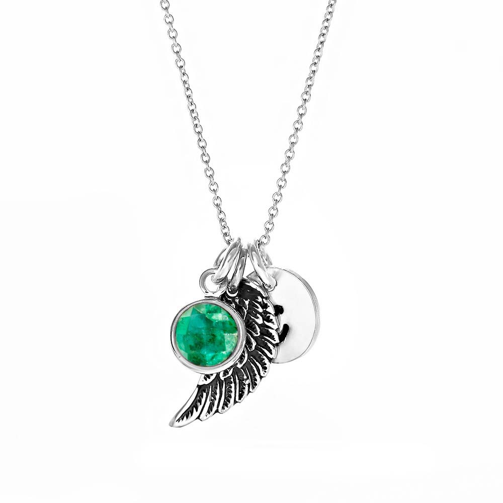 Angel Wing Best Friends Necklaces For 2,3,4 Or 5 Personalized With Birthstones BFF Angel Wing Necklaces Friendship Angel WIng Necklaces