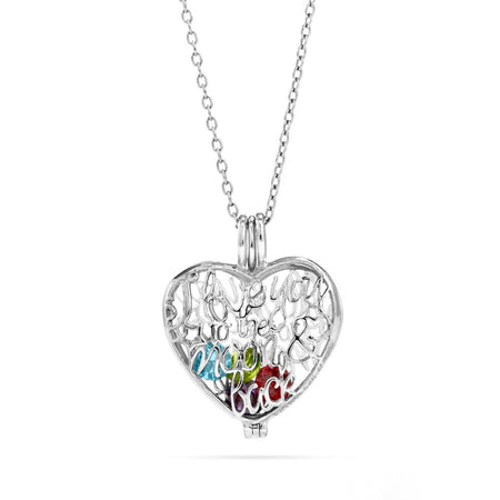 display slide 1 of 3 - I Love You To The Moon and Back Birthstone Locket - selected slide