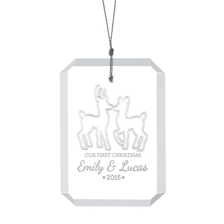 Personalized Couple's First Christmas Ornament