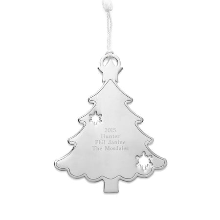Engravable Christmas Tree Metal Ornament