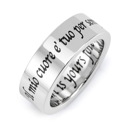 My Heart Is Yours Forever Stainless Steel Poesy Ring
