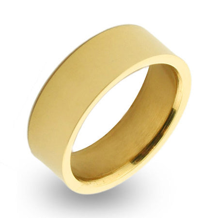 display slide 1 of 1 - Engravable 18K Gold Plated 7mm Stainless Steel Band - selected slide