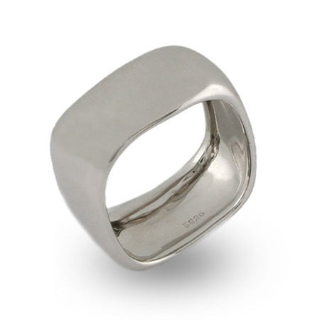Sterling Silver Wide Cushion Band