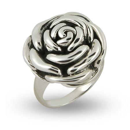 Designer Inspired Sterling Silver Rose Ring