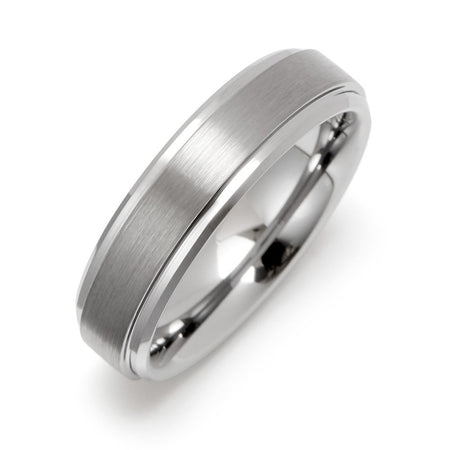 6mm Raised Center Engravable Tungsten Ring