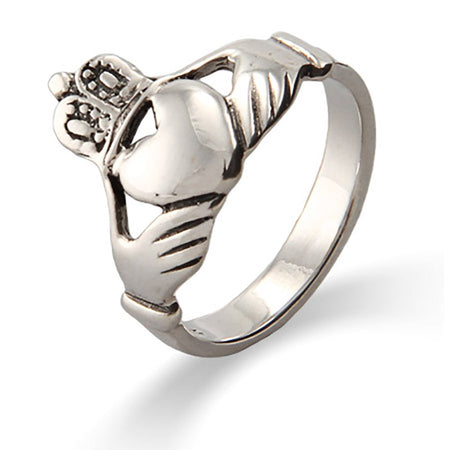 Sterling Silver Irish Claddagh Wedding Ring