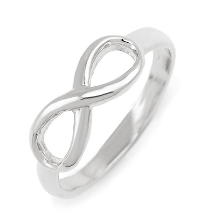 display slide 1 of 2 - Sterling Silver Infinity Ring - selected slide