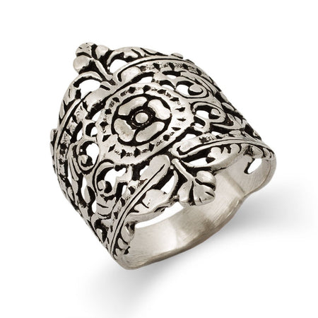 Moroccan Filigree Design Silver Ring