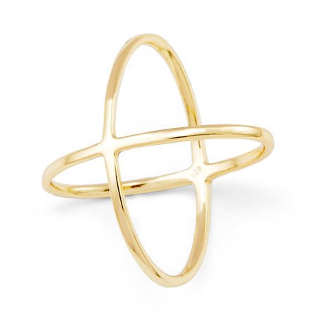 Double X Gold Vermeil Ring - The It Ring