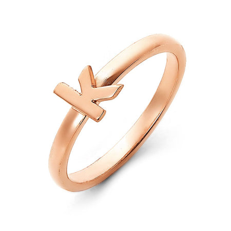 Rose Gold Initial Ring