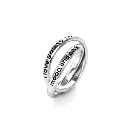 I Love You To The Moon and Back Rolling Rings