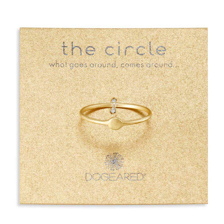 Dogeared Gold Circle Ring