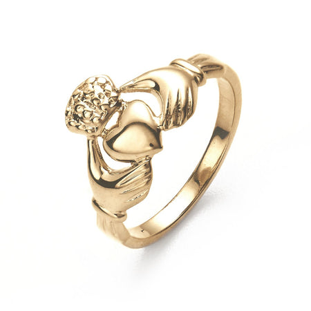 14K Gold Claddagh Wedding Ring