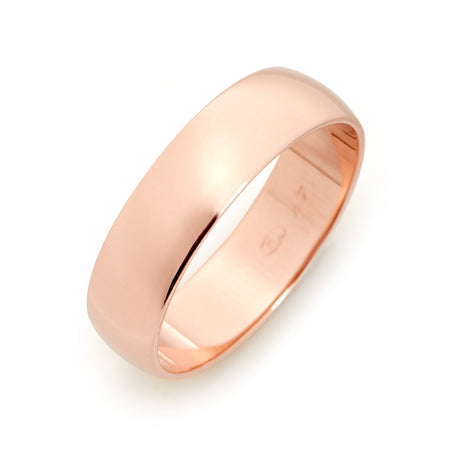 14K Rose Gold Engravable Wedding Band