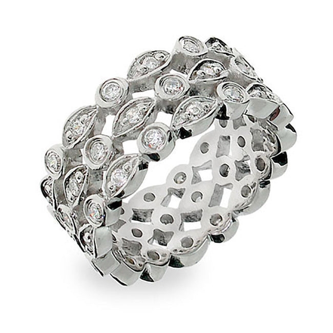 Inspired CZ Triple Band Ring CZ Bands®