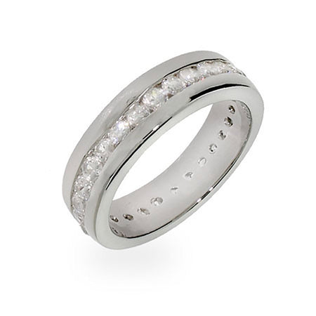 Channel Set CZ Eternity Band
