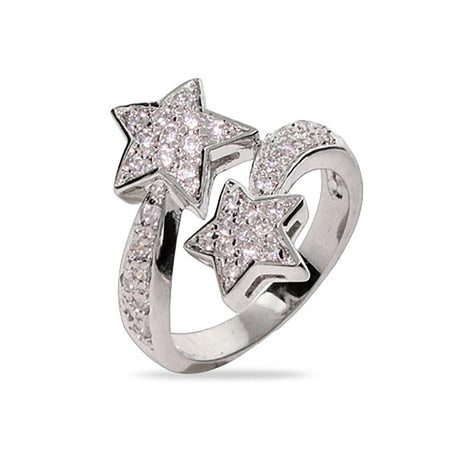 display slide 1 of 1 - Shooting Stars Pave CZ  Ring - selected slide