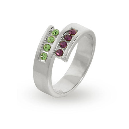 8 Stone Personalized Austrian Crystal Couples Ring