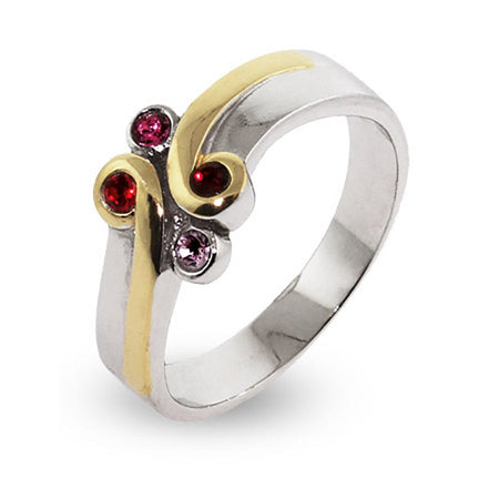 Sterling Silver and Gold Plated Birthstone Ring