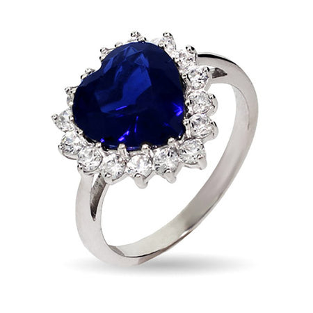 Heart of the Ocean Movie Inspired Sapphire CZ Ring