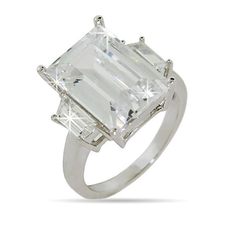 Celebrity Inspired 21 Carat CZ Engagement Ring