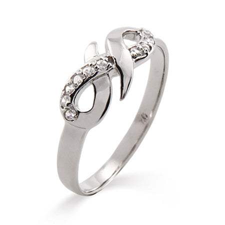 CZ Infinity Ring in Sterling Silver