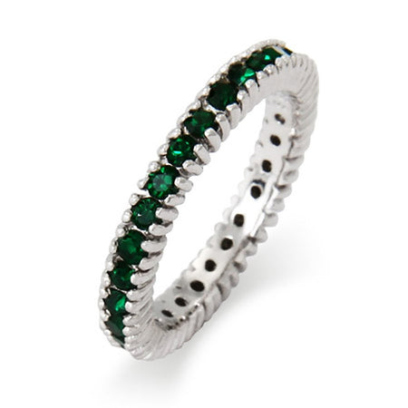 Sparkling May Emerald Birthstone Stackable Ring | Eve's Addiction®