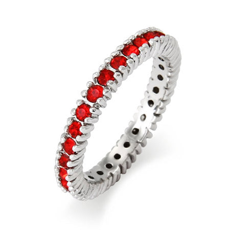 Sparkling July Birthstone Stackable Ring