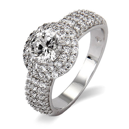 Sparkling Pave with Brilliant Cut CZ Right Hand Ring
