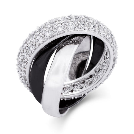 Black and Silver CZ Russian Wedding