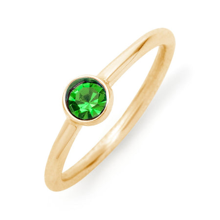 Gold Personalized Birthstone Ring   could ship in 24 hours!