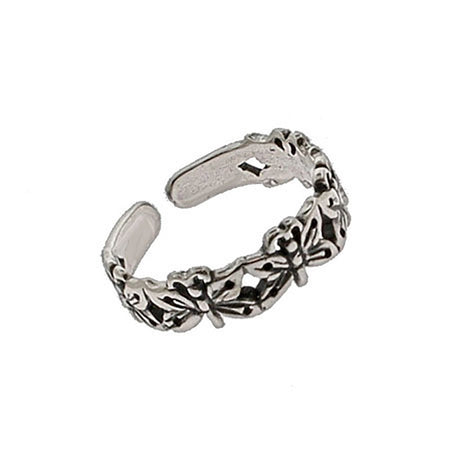 Band of Butterflies Sterling Silver Toe Ring