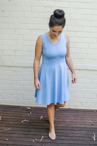 Azure Breastfeeding Dress