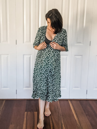 The Mylk Society - Floral Dress - Green