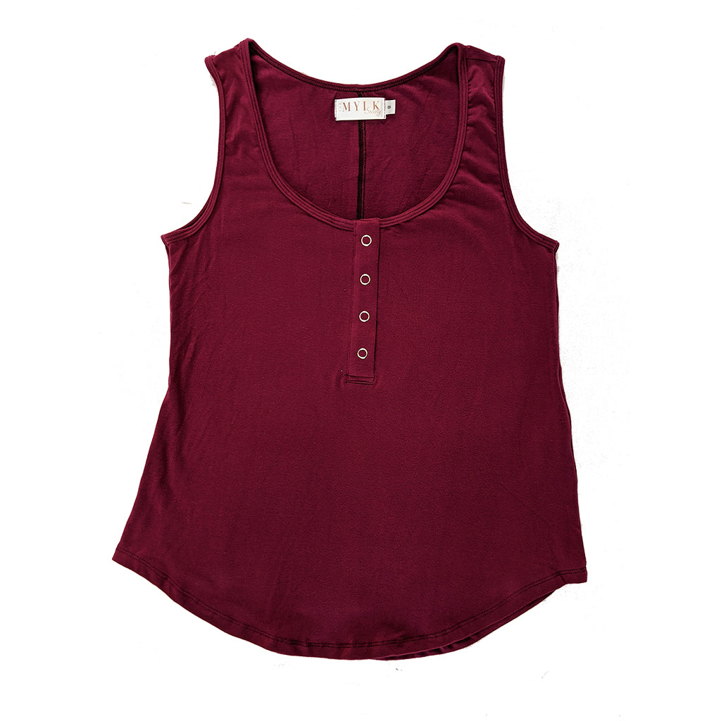 Avalon Breastfeeding Snap Tank - Mulberry