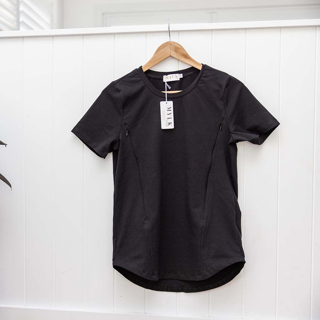 Sydney Nursing Tee - Black