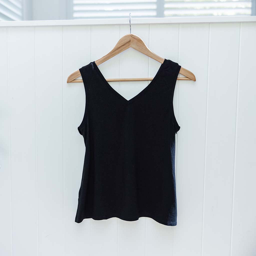 Balmain Breastfeeding V-Neck Tank - Black