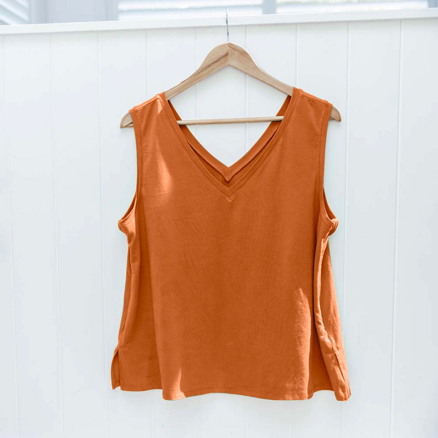Balmain Breastfeeding V-Neck Tank - Burnt Orange