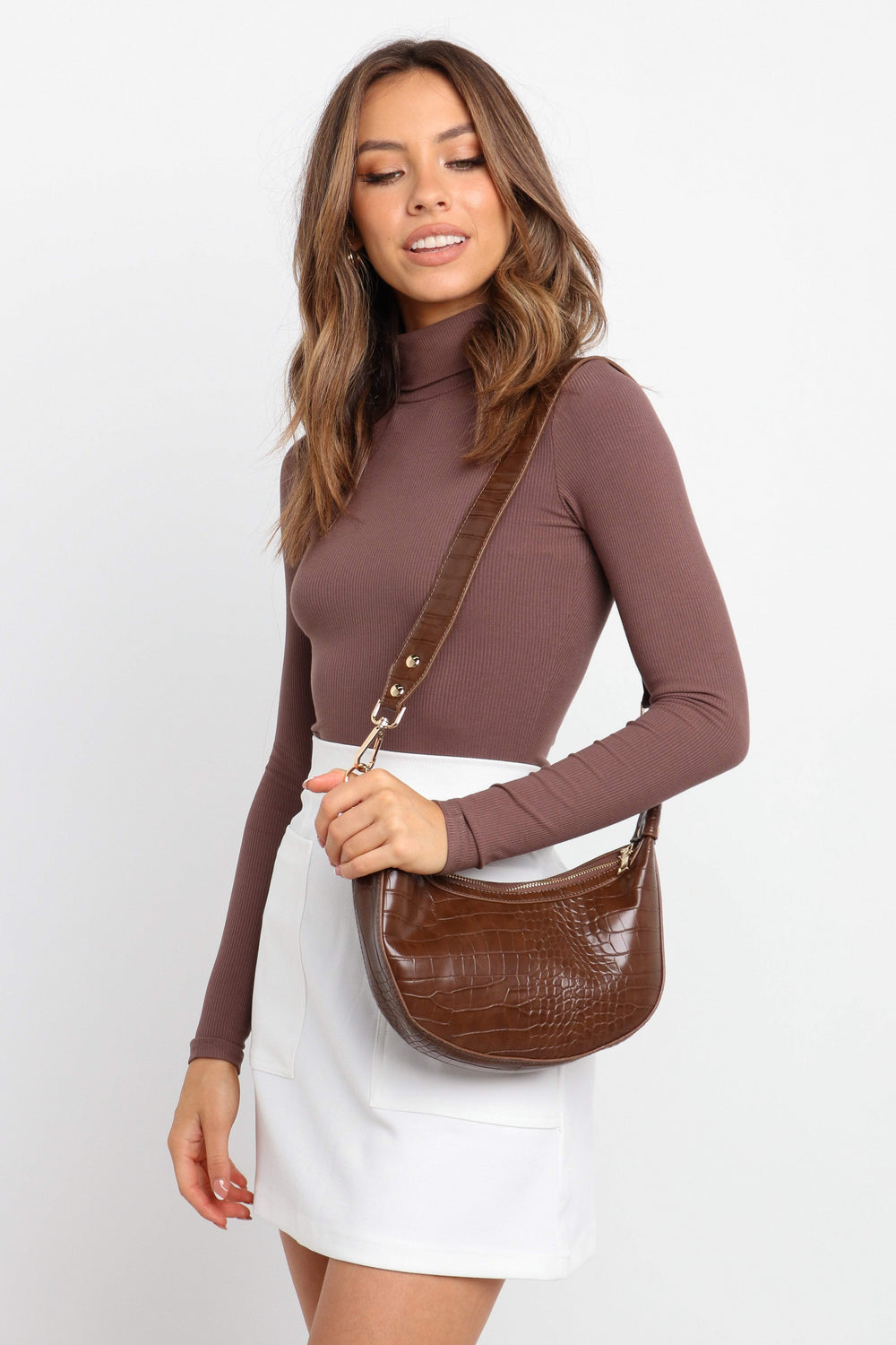 Petal and Pup USA ACCESSORIES Brooklyn Bag - Brown One Size