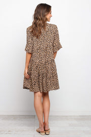Petal and Pup USA DRESSES Roare Dress - Brown