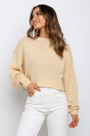 Petal and Pup USA KNITWEAR Benton Knit- Beige XS