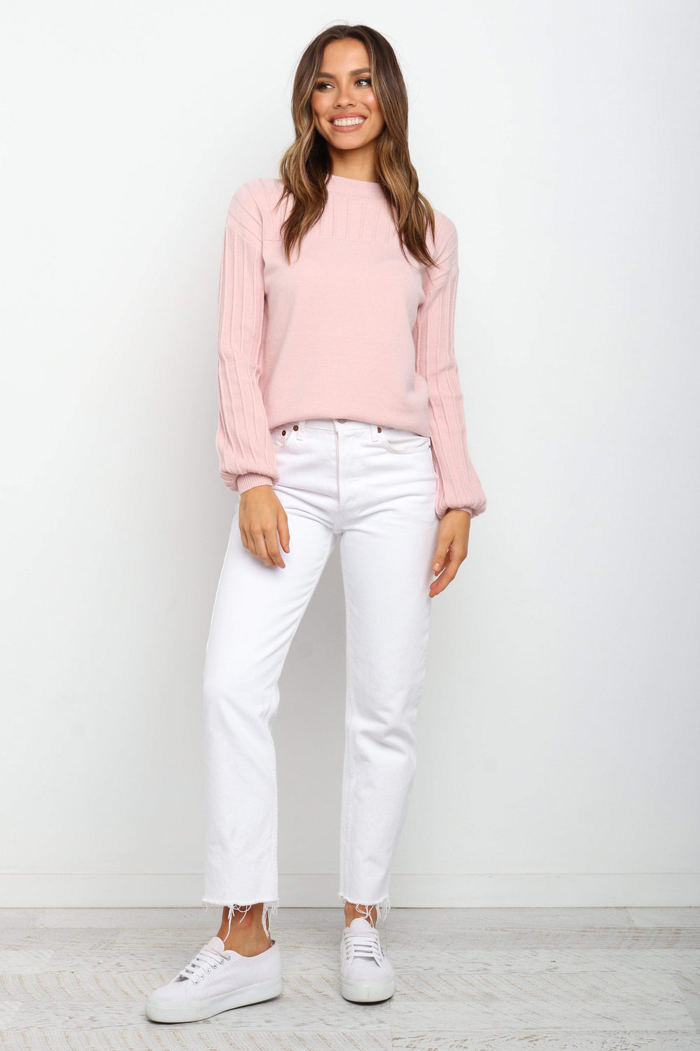 Petal and Pup USA KNITWEAR Lana Knit - Blush