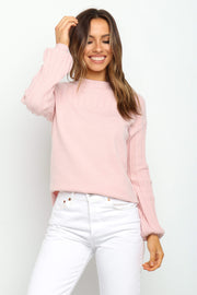 Petal and Pup USA KNITWEAR Lana Knit - Blush 2