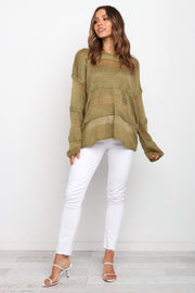 Petal and Pup USA TOPS Hylda Top - Olive M/L