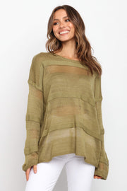 Petal and Pup USA TOPS Hylda Top - Olive S/M
